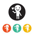 lover man rounded icon style is a flat lover man vector image