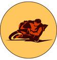 motorbiker sport vector image vector image