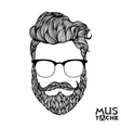 Mustache Beard and Hair Style vector image vector image