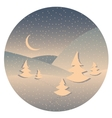 Night winter landscape vector image vector image