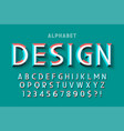 original display font with facets alphabet vector image