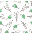 pattern with lily of the valley vector image vector image