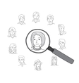 People search round concept vector image