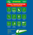public transport poster or public health vector image