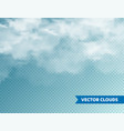 realistic clouds isolated cloud on blue vector image vector image