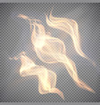realistic fire transparent effect element vector image