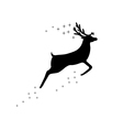 Reindeer with stars vector image