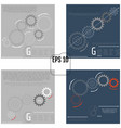 set of infographic templates with gears on grey vector image