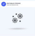 snowflakes icon filled flat sign solid vector image vector image