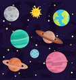 space landing planets solar system future vector image vector image