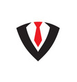 suit tie tuxedo business worker logo icon vector image vector image