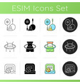 summer camp activities icons set vector image vector image