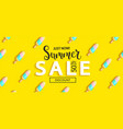 summer sale ice cream banner on yellow background vector image vector image