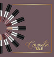 template banner design for cosmetic sale vector image vector image