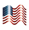 united states america flag with waves vector image vector image