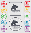 vegetarian restaurant icon sign symbol on the vector image vector image