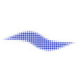 wave shape halftone icon vector image vector image