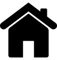 web home flat icon for apps and websites vector image vector image