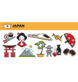 japan travel destination promotional poster with vector image