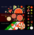 pizza constructor banners set vector image