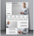 flyer design with a blurred photo vector image