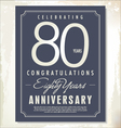 80 years anniversary background vector image vector image
