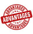 advantages red grunge stamp vector image vector image