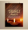 aesome diwali festival celebration template with vector image vector image