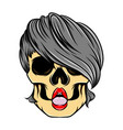 artwork sexy lips women skull with the vector image