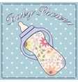 Baby shower with feeding bottle vector image vector image