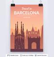 Barcelona famous city scape