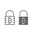 bitcoin encryption line and glyph icon money vector image vector image