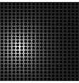 Black Metal carbon holes background vector image