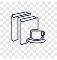 book concept linear icon isolated on transparent vector image