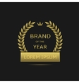 brand year label vector image vector image
