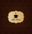 Brown elegant decorative coffee house menu vector image