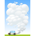 car releasing smoke vector image