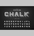 chalk shadow round font and alphabet pencil vector image vector image