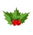 Christmas Berry Sign vector image