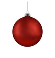 christmas red ball handing on string xmas vector image vector image