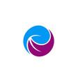 circle abstract beauty logo vector image vector image