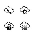 cloud settings simple related icons vector image vector image