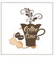 coffee break an inscription on the form of a cup vector image vector image