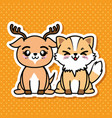cute and lovely animals cartoon vector image vector image