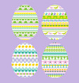 easter eggs with stripe patterns vector image vector image
