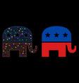 flare mesh carcass republican elephant icon vector image vector image