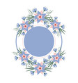 floral vignette in the form of a circle vector image vector image
