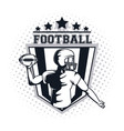 football player icon vector image