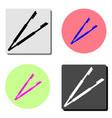 forceps tweezers flat icon vector image