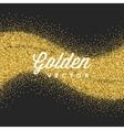 Gold Glitter Sparkles Bright Confetti vector image vector image